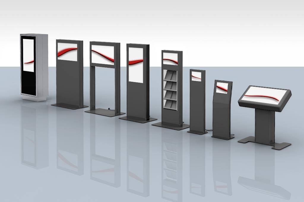 DS-Stelen für den Innenbereich in unterschiedlichen Formaten und Ausführungen