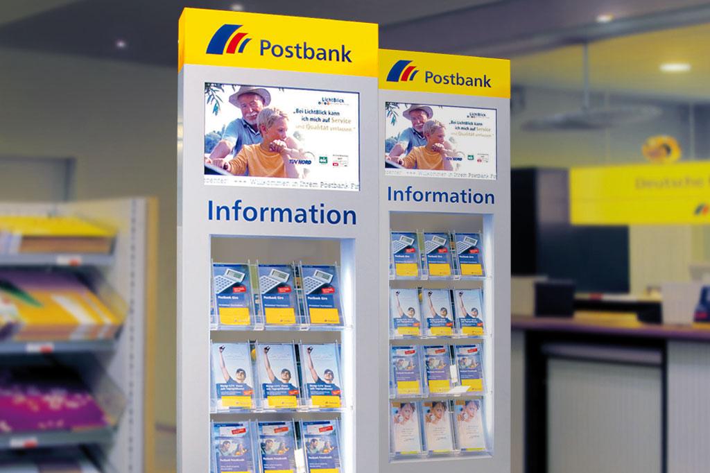 Standsäule für Print- und digitales Infomaterial