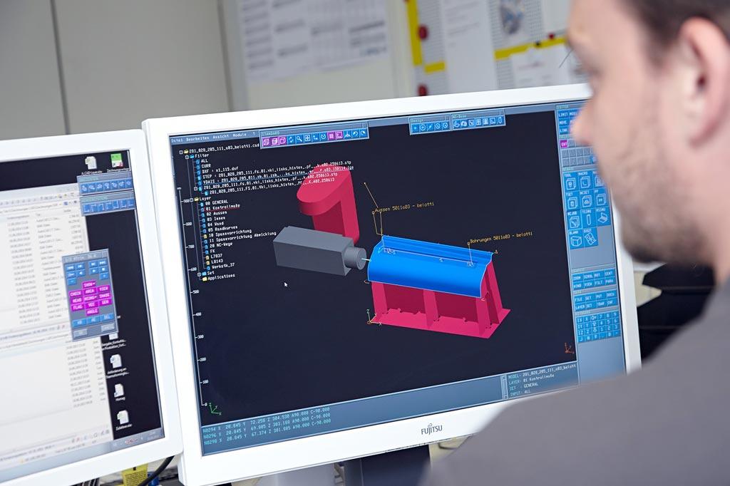 computergestützte 3D-Konstruktion mit Zeichnung