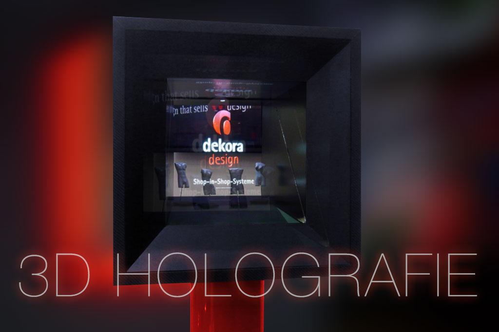 zur holografischen Produktpräsentation