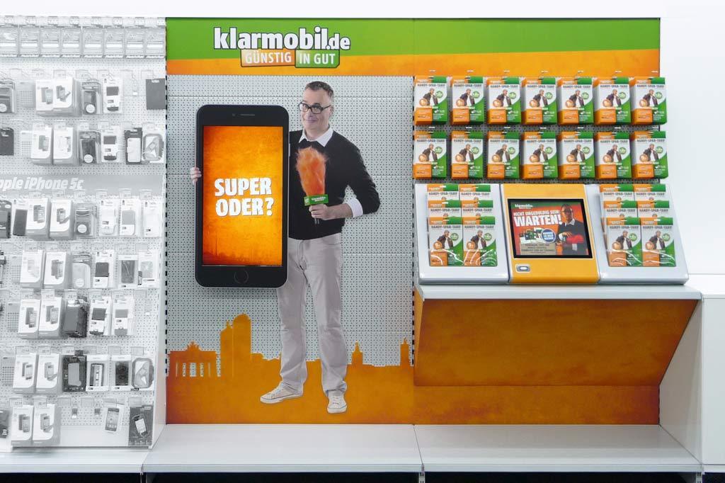 mit 2D-Figur sowie interaktivem Screen zur Informations- und Verkaufsoptimierung