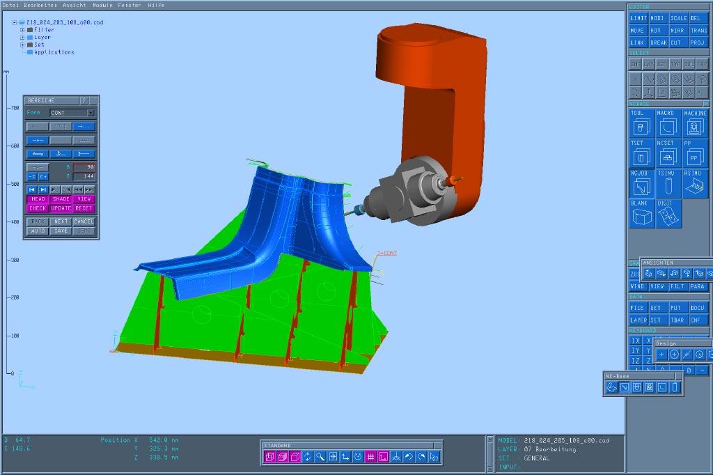 Datenübernahme für den 3D 5-Achs-Fräsbeschnitt